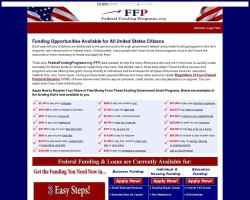 New & Converting Like Crazy! - Free Government Grants Program