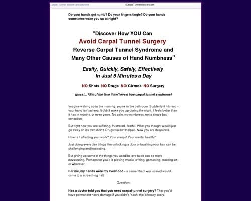 Self-Help - Carpal Tunnel Master, Self-Help for Hands