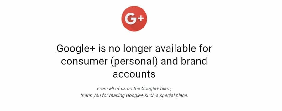 Google+ is no longer available - Online Ownership