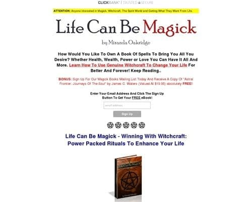 Life Can Be Magick - Winning With Witchcraft - Power-packed rituals to enhance your life by Miranda Oakridge