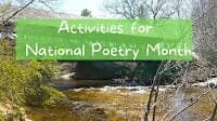 Activities for National Poetry Month