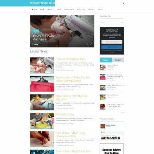 SEWING STORE - Business Website For Sale - Affiliate Marketing Website + Domain