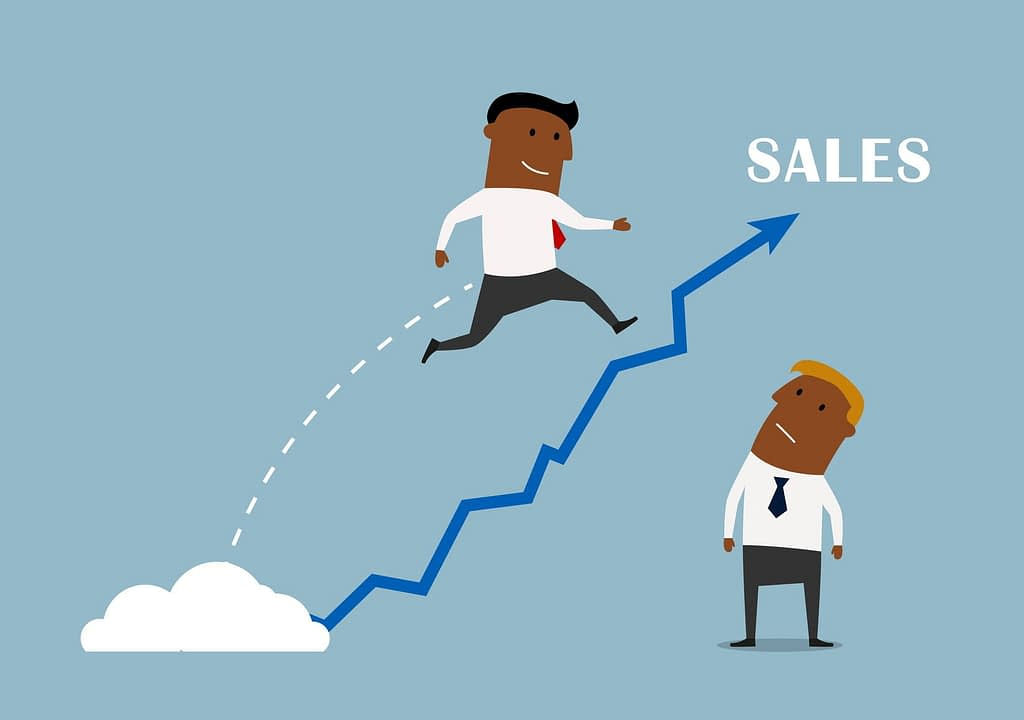 growing sales chart