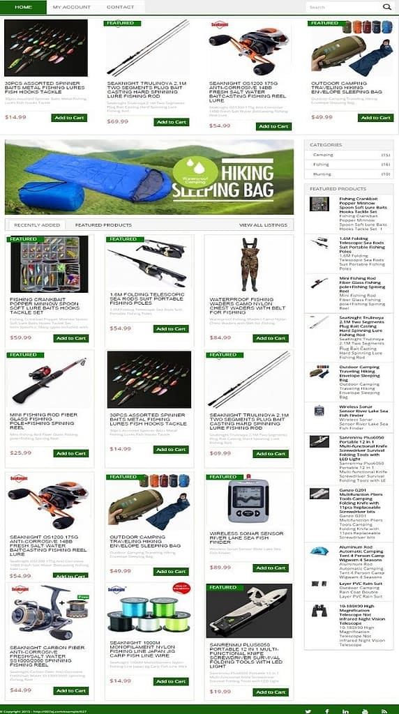 FISHING, HUNTING & CAMPING GEAR SHOP WEBSITE BUSINESS FOR SALE! MOBILE FRIENDLY