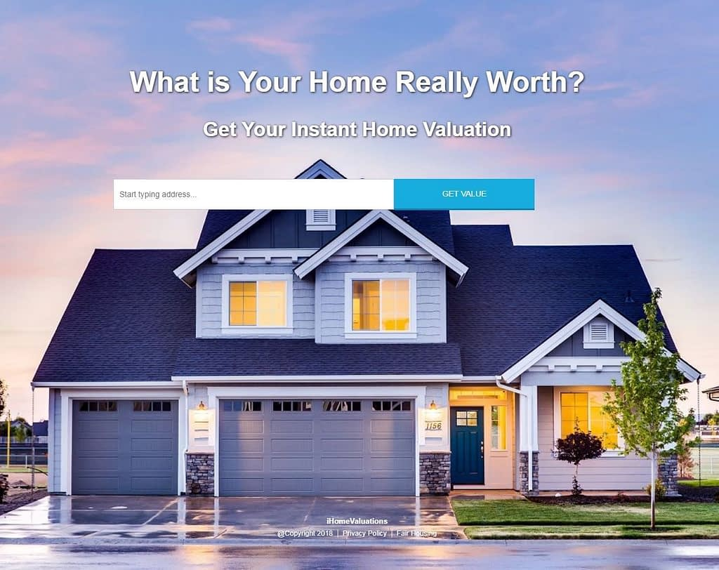 iHomeValuations.com Domain Name + Site Included - Free Hosting - Real Estate