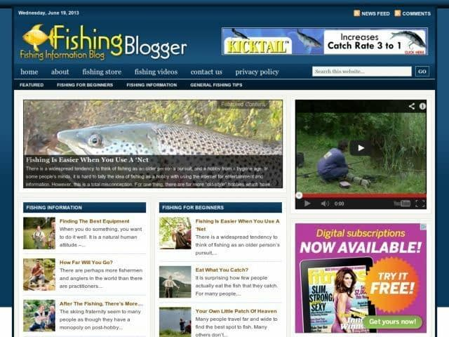 Fishing Reports / Hunting Tips Niche Wordpress Blog Website For Sale!