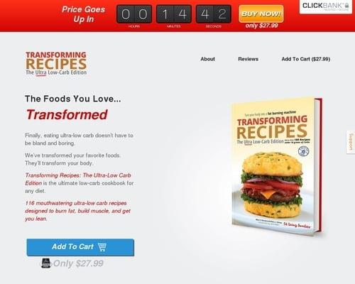 Transforming Recipes, Ultra-low Carb Edition